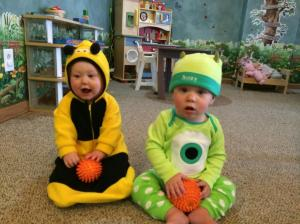 Henry and Addison at the daycare Halloween Party
